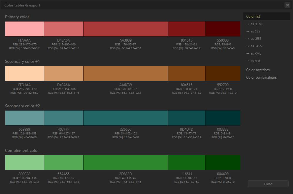 Farbpaletten für Powerpoint mit Paletton