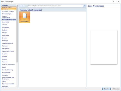 Die besten, kostenlosen Excel Vorlagen - gratis von Microsoft