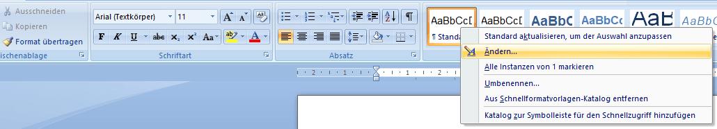 Textbausteine in Word anpassen und formatieren