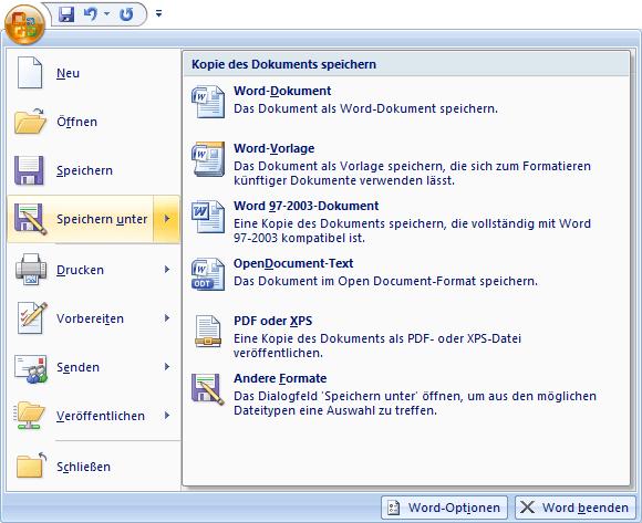 Formatvorlagen in Word speichern & exportieren