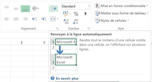 Saut de ligne Excel