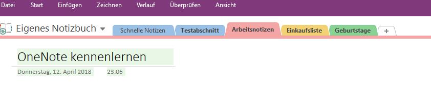 microsoft onenote tutorial deutsch