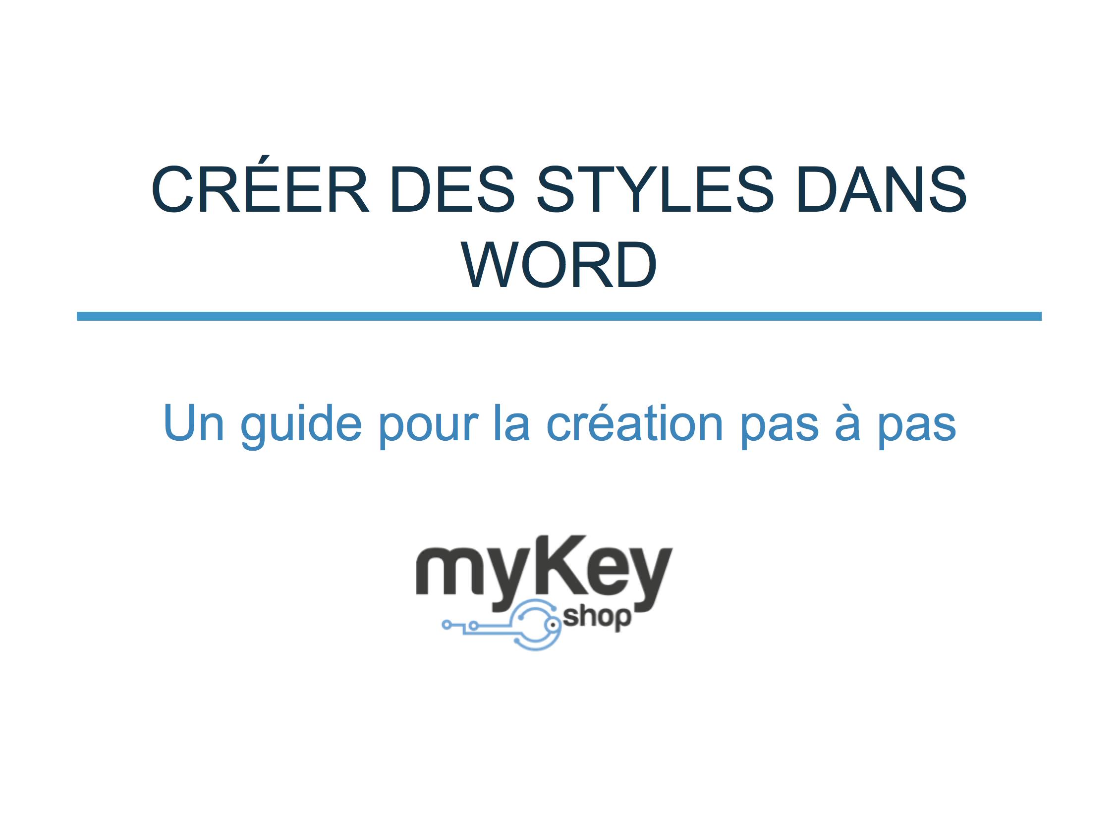 Créer des styles dans Word