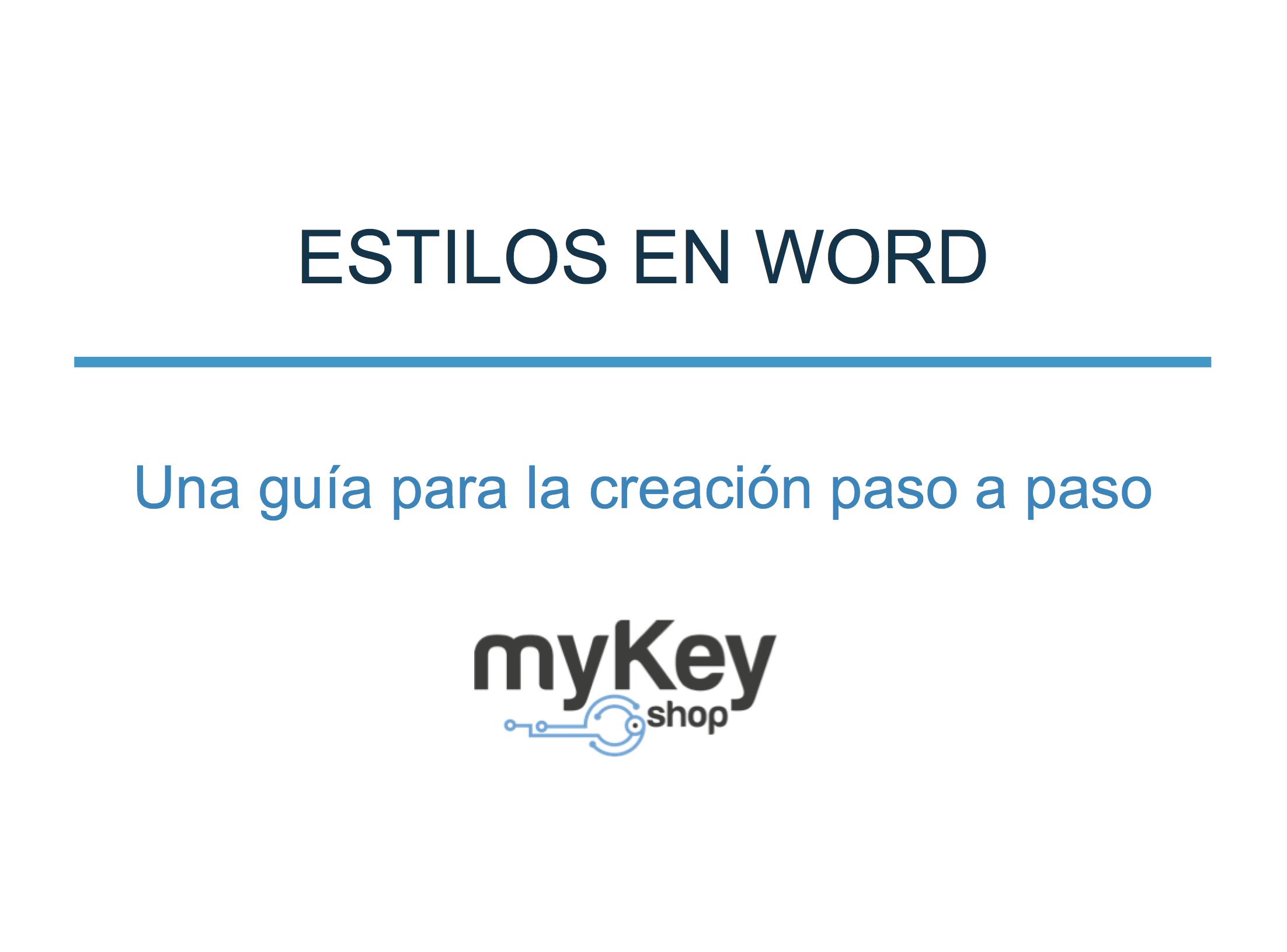 Crear estilos en Word – una guía