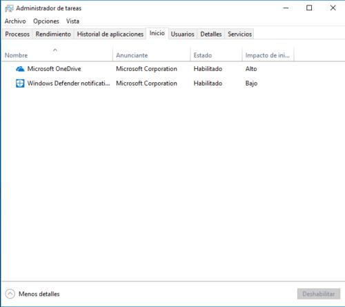 Administrador de tareas Windows