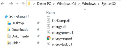 Dateiexplorer Diagnosebericht