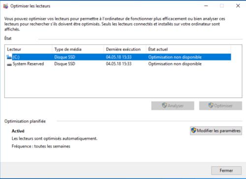 Optimiser les lecteurs Windows