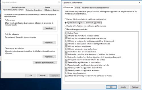 Propriétés système Windows